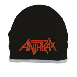 Шапка Anthrax red logo