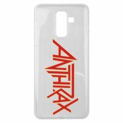 Чохол для Samsung J8 2018 Anthrax red logo