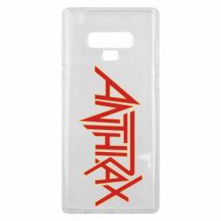 Чохол для Samsung Note 9 Anthrax red logo