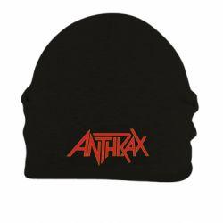 Шапка на флісі Anthrax red logo