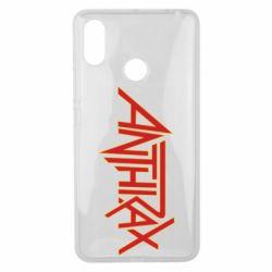 Чехол для Xiaomi Mi Max 3 Anthrax red logo