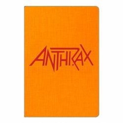 Блокнот А5 Anthrax red logo