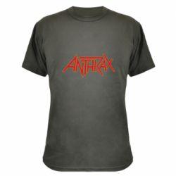 Камуфляжна футболка Anthrax red logo