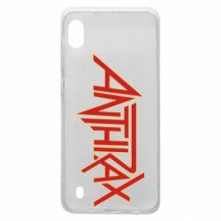 Чохол для Samsung A10 Anthrax red logo