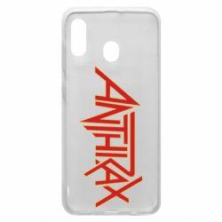 Чохол для Samsung A20 Anthrax red logo