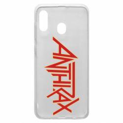 Чохол для Samsung A30 Anthrax red logo