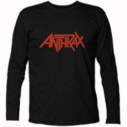 Футболка с длинным рукавом Anthrax red logo