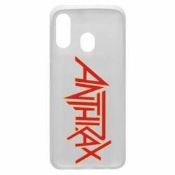 Чохол для Samsung A40 Anthrax red logo