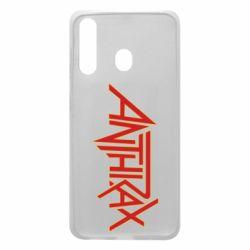 Чохол для Samsung A60 Anthrax red logo
