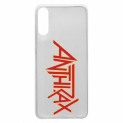 Чохол для Samsung A70 Anthrax red logo