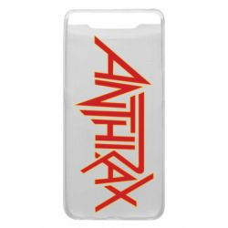 Чохол для Samsung A80 Anthrax red logo