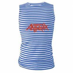 Майка-тільняшка Anthrax red logo