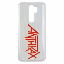 Чехол для Xiaomi Redmi Note 8 Pro Anthrax red logo
