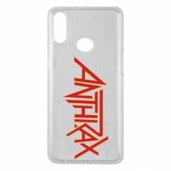 Чохол для Samsung A10s Anthrax red logo