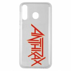 Чохол для Samsung M30 Anthrax red logo