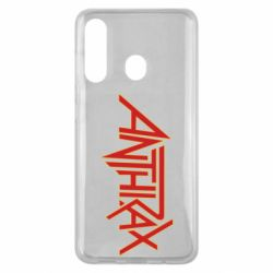 Чохол для Samsung M40 Anthrax red logo