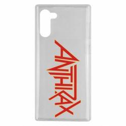 Чехол для Samsung Note 10 Anthrax red logo