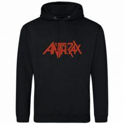 Мужская толстовка Anthrax red logo