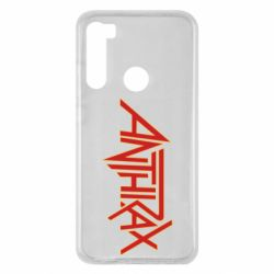 Чехол для Xiaomi Redmi Note 8 Anthrax red logo