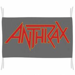 Прапор Anthrax red logo