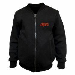 Дитячий бомбер Anthrax red logo