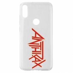 Чехол для Xiaomi Mi Play Anthrax red logo