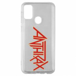 Чохол для Samsung M30s Anthrax red logo