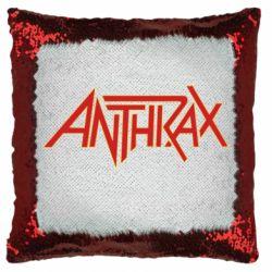 Подушка-хамелеон Anthrax red logo
