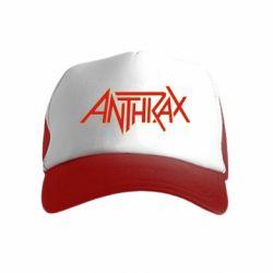 Дитяча кепка-тракер Anthrax red logo