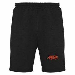 Мужские шорты Anthrax red logo