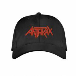 Детская кепка Anthrax red logo