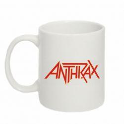 Кружка 320ml Anthrax red logo