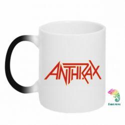 Кружка-хамелеон Anthrax red logo