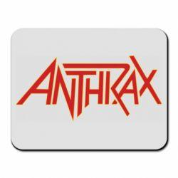 Килимок для миші Anthrax red logo