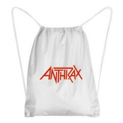 Рюкзак-мішок Anthrax red logo