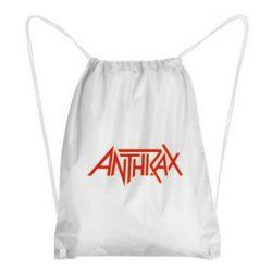 Рюкзак-мешок Anthrax red logo