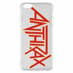 Чохол для iPhone 6 Plus/6S Plus Anthrax red logo