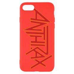 Чохол для iPhone 7 Anthrax red logo