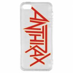 Чохол для iphone 5/5S/SE Anthrax red logo