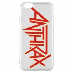 Чохол для iPhone 6/6S Anthrax red logo