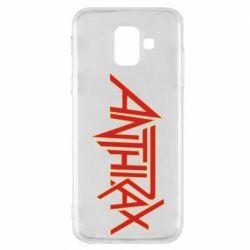 Чохол для Samsung A6 2018 Anthrax red logo