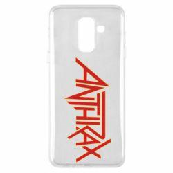 Чехол для Samsung A6+ 2018 Anthrax red logo