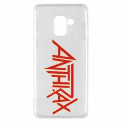 Чохол для Samsung A8 2018 Anthrax red logo
