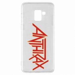 Чохол для Samsung A8+ 2018 Anthrax red logo
