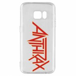 Чохол для Samsung S7 Anthrax red logo