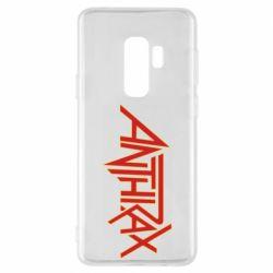 Чехол для Samsung S9+ Anthrax red logo