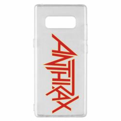 Чохол для Samsung Note 8 Anthrax red logo