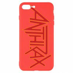 Чохол для iPhone 8 Plus Anthrax red logo