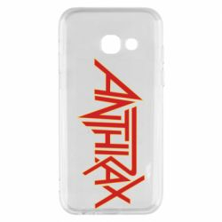 Чохол для Samsung A3 2017 Anthrax red logo