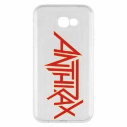 Чохол для Samsung A7 2017 Anthrax red logo